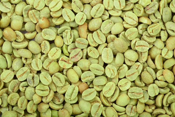 Green Coffee Beans Background Close High Quality Food Images