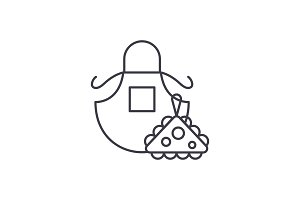 Apron line icon concept. Apron