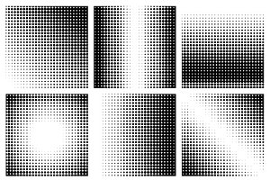 Halftone dots patterns