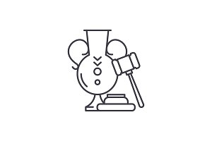 Auction line icon concept. Auction