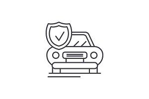 Auto insurance line icon concept
