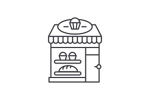 Bakery line icon concept. Bakery