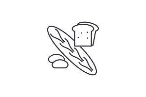 Bakery shop line icon concept