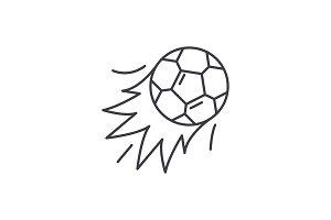 Ball goal line icon concept. Ball