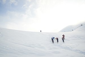 Skitouring with amazing view of