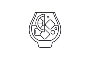 Brandy line icon concept. Brandy
