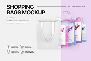 Shopping Bags Mockup Set