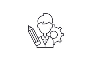 Business consultant line icon