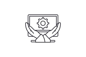 Business development line icon