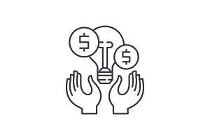 Business ideas line icon concept
