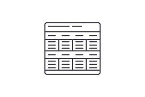 Business model line icon concept
