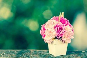 Retro roses flower