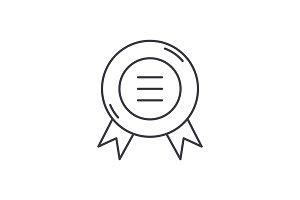 Business sticker line icon concept