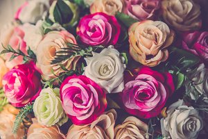 Bouquet rose flower background