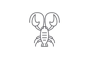 Crayfish line icon concept. Crayfish