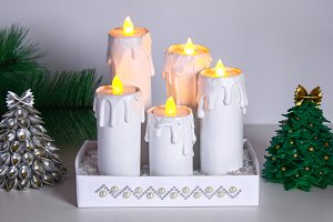 How to make white Christmas candles