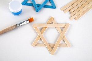 DIY. Hanukkah decor. Star of David f