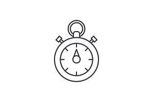 Chronoscope line icon concept