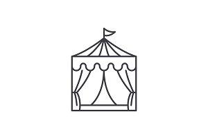 Circus line icon concept. Circus