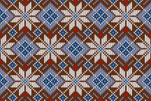 Knitted Scandinavian sweater pattern