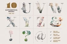 10 Alphabetical Masks Vol 03 by  in Layer Styles