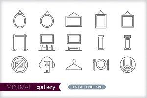 Minimal gallery icons