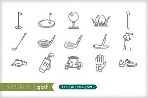 Minimal golf icons