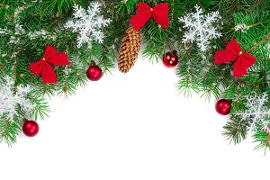 Christmas background decorated with