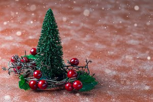 Holiday composition with christmas t
