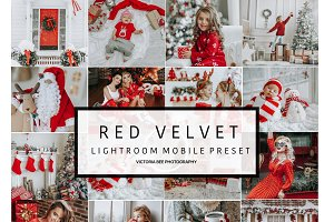 Mobile Lightroom Preset RED VELVET
