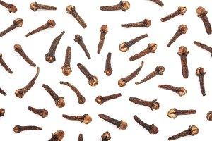 Dry spice cloves or carnation