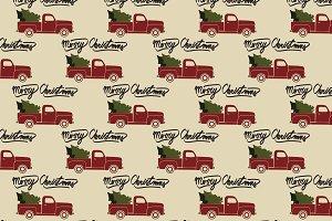 Christmas pickup truck pattern.