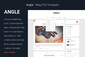 Angle - Blog PSD Template