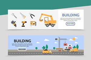 Building industry banners