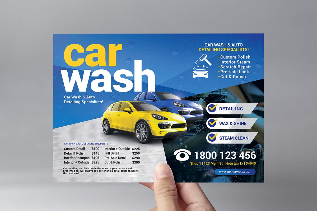 Car Wash Flyer Template Flyer Templates Creative Market