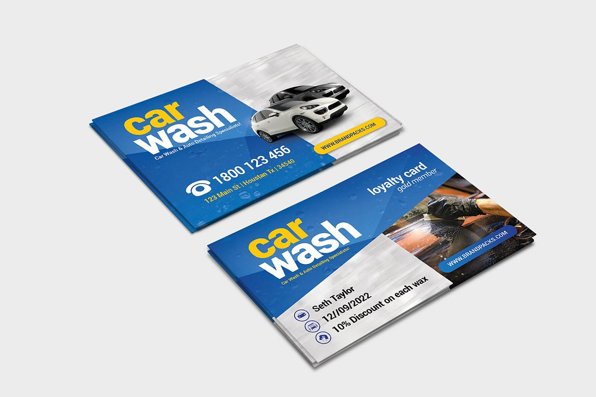 Car Wash Business Card Template Business Card Templates Creative