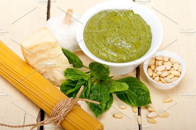 Italian classic basil pesto sauce ingredients 003.jpg - Food & Drink