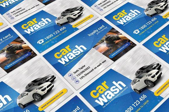 Car Wash Business Card Template Templates Creative Market