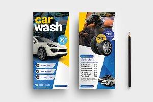 Car Wash DL Rack Card Template