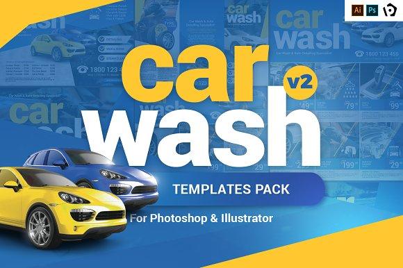 car wash templates pack template flyer templates creative market