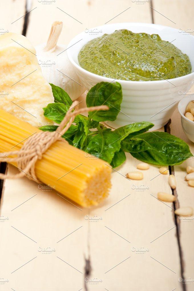Italian classic basil pesto sauce ingredients 004.jpg - Food & Drink