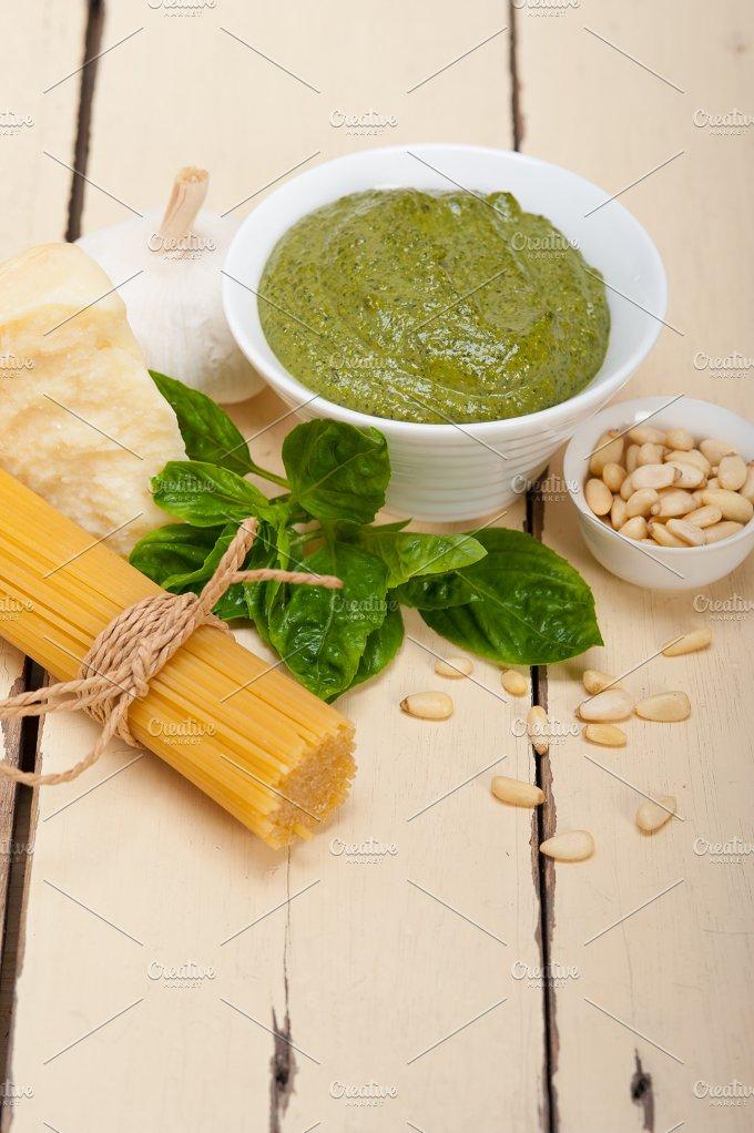 Italian classic basil pesto sauce ingredients 005.jpg - Food & Drink