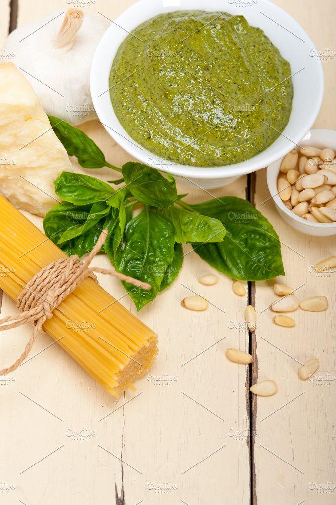 Italian classic basil pesto sauce ingredients 006.jpg - Food & Drink
