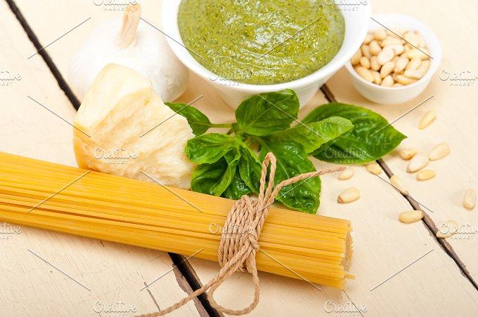 Italian classic basil pesto sauce ingredients 011.jpg - Food & Drink