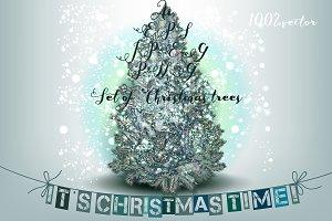Christmas vector trees clipart
