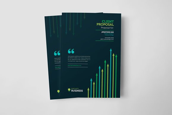 business project proposal design stationery