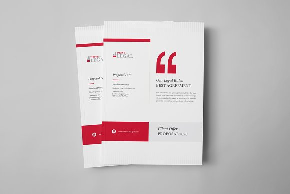 legal attorney law proposal design stationery templates creative