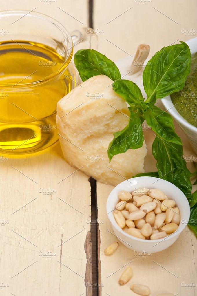 Italian classic basil pesto sauce ingredients 024.jpg - Food & Drink