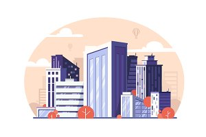 Urban modern megapolis