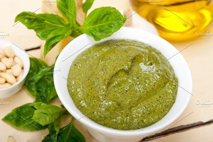 Italian classic basil pesto sauce ingredients 035.jpg - Food & Drink
